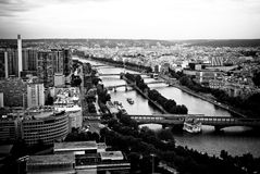 Le Seine à Paris Photo stock