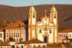 Le senhora d'Igreja de nossa font Carmo dans Ouro Preto Photos stock