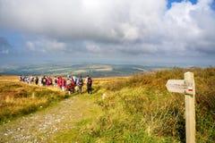 Le sentier de randonnée Photo libre de droits