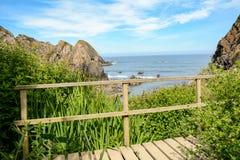 Le sentier de randonnée Rota Vicentina d'Odeceixe à Zambujeira troublent, le Portugal Photographie stock libre de droits