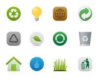 Le serie regolari > riciclano le icone Fotografia Stock Libera da Diritti