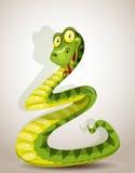 Le serpent mignon s'est déplié sous forme d'arbre de Noël illustration stock
