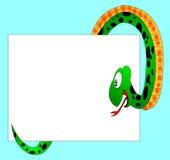 Le serpent vert Image libre de droits