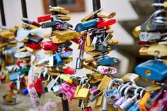 Le serrature di amore Fotografie Stock Libere da Diritti