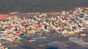 Le serre nel villaggio di Thaiphien, agricoltura alta tecnologia Fotografia Stock Libera da Diritti