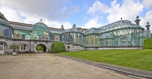 Le serre reali di Laeken, Bruxelles, Belgio fotografia stock