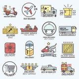 Le service de distribution libre rapide transporte Logo Set Image stock