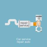 Le service de voiture, réparent le logo automatique Images stock