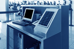 Le service des terminaux d'aéroport Photo stock