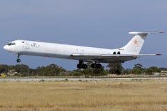Le seul cargo de la cargaison Il-62 en existence images stock