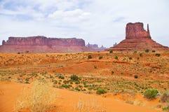 Le seul horizontal de la vallée de monument, Utah, Etats-Unis Image stock