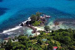Le Seychelles aeree Fotografia Stock