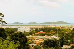 Le Seychelles Victoria capitala, Mahe Fotografie Stock Libere da Diritti