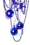 Le sfere blu di nuovo anno immagine stock