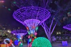 Le Sha Tin Festive Lighting 2016 Photos libres de droits