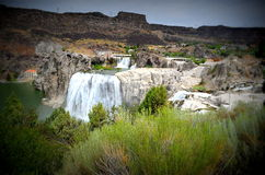 Le Shoshone tombe dans Twin Falls, Idaho Photographie stock libre de droits