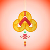 Le shui chinois de feng de nouvelle année de style plat invente le groupe Image stock