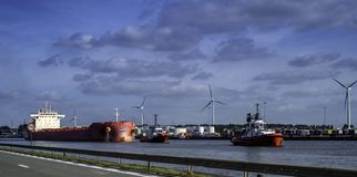 Le Sifferdok, Belgique image libre de droits