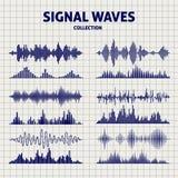 Le signal ondule des icônes de croquis illustration de vecteur
