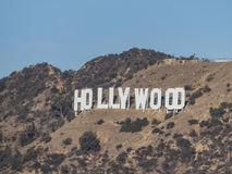 Le signe célèbre de hollywood photos libres de droits