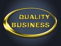 Le signe d'affaires de qualité indique la plaquette et l'enseigne d'entreprise Photo libre de droits