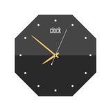 Le signe de cercle d'horloge murale avec la minute de minuterie d'alarme de bureau de vitesse d'outil d'indicateur de chronomètre Photographie stock libre de droits
