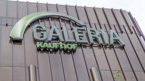 Le signe de Galeria Kaufhof Image libre de droits