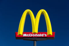 Le signe de grand McDonald Photos libres de droits