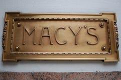 Le signe de Macy Image libre de droits