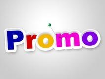 Le signe de promo indique que les remises économisent et dégagement Photos libres de droits