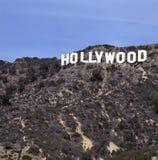 Le signe de renommée mondiale de Hollywood de point de repère image stock