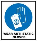 Le signe de sécurité, protection de main doit être porté illustration de vecteur