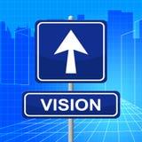 Le signe de vision représente l'affichage et les missions d'enseigne illustration de vecteur