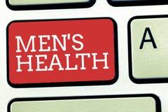 Le signe des textes montrant à des hommes s est santé État conceptuel de photo de bien-être physique et mental complet des hommes images libres de droits