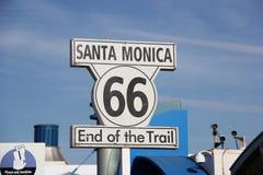 Le signe historique de Route 66 photo libre de droits