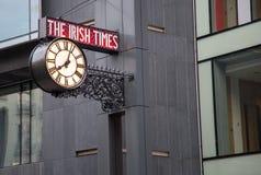 Le signe irlandais de périodes Images libres de droits