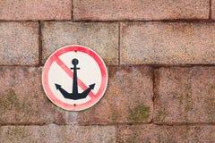 Le signe ne jettent pas des ancres Images libres de droits