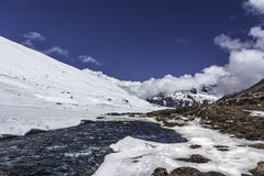 Le Sikkim au zéro absolu Photos libres de droits