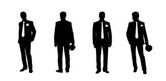 Le siluette dello sposo hanno messo 2 illustrazione di stock
