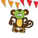 Le singe brun mignon a un mal d'estomac Photo libre de droits