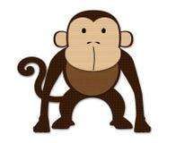 Le singe a effectué le papier d'ââof Image libre de droits