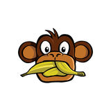 le singe mauvais aucun parlent Photo stock