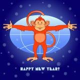 Le singe rouge veut embrasser le monde Photographie stock libre de droits