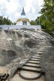 Le site antique de Madya Mandalaya situé environ 20 kilomètres du Panama sur la Côte Est de Sri Lanka Image libre de droits