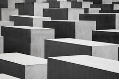 Le site commémoratif d'holocauste à Berlin Image stock