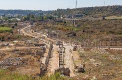 Le site Grec-romain merveilleux de Perga, Turquie image stock