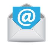 Le site Web d'icône d'email entre en contact avec le symbole illustration stock