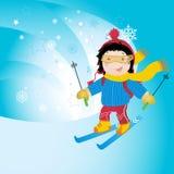 le ski folâtre l'hiver image libre de droits