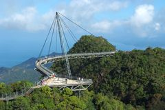 Le skybridge de Langkawi photographie stock libre de droits