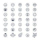 Le smiley fait face à des icônes Image libre de droits